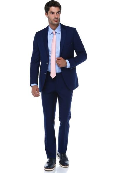 İmza Slim Fit Düz Takım Elbise