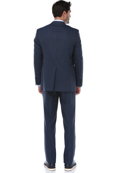 İmza Comfort Fit Desenli Takım Elbise