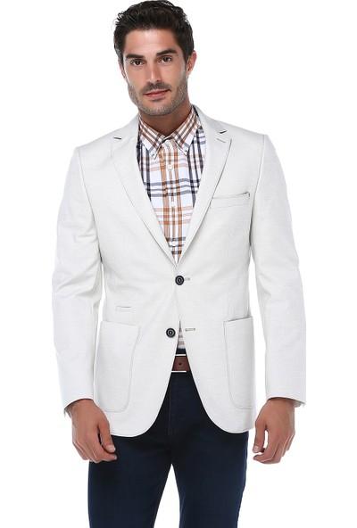 İmza Slim Fit Desenli Ceket