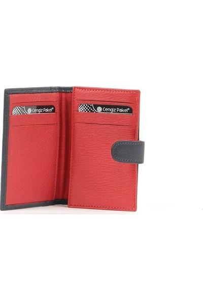 Cengiz Pakel Kartlık Kartvizitlik Lacivert Kırmızı 2438