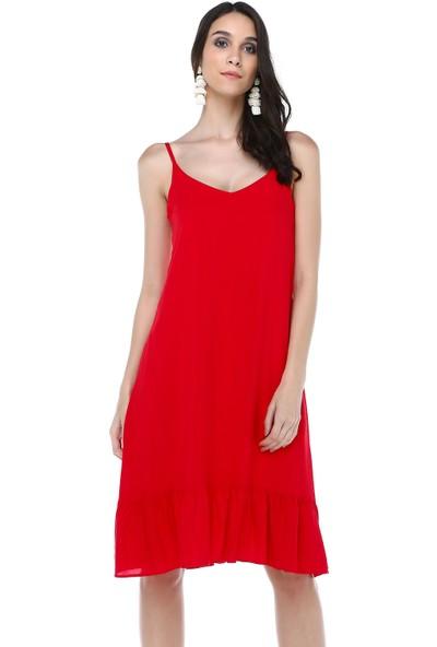 Cream&Rouge 18Y248 Elbise Fırfırlı Askılı
