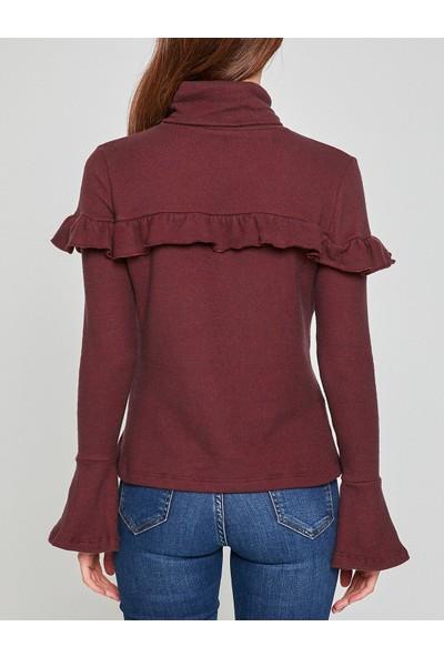 Koton Kadın Fırfır Detaylı Sweatshirt