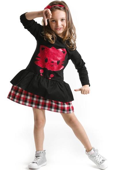 Mushi Kalbim Kedide Elbise