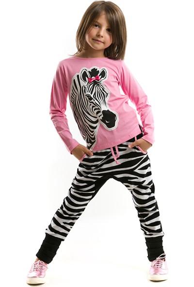 Mushi Zebra Tozluklu Baggy Kız Takım