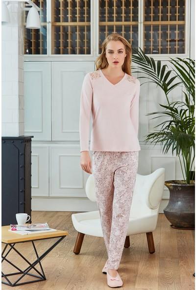 Pierre Cardin Kadın Pijama Takımı Pudra