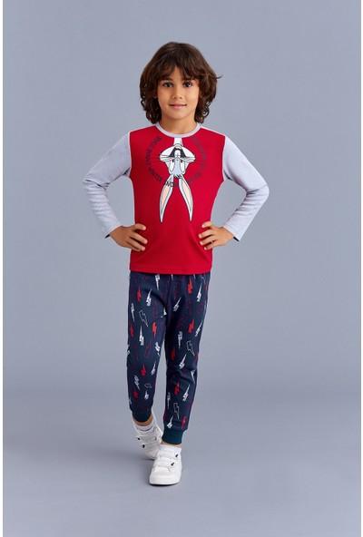 Bugs Bunny Lisanslı Erkek Çocuk Pijama Takımı Kırmızı