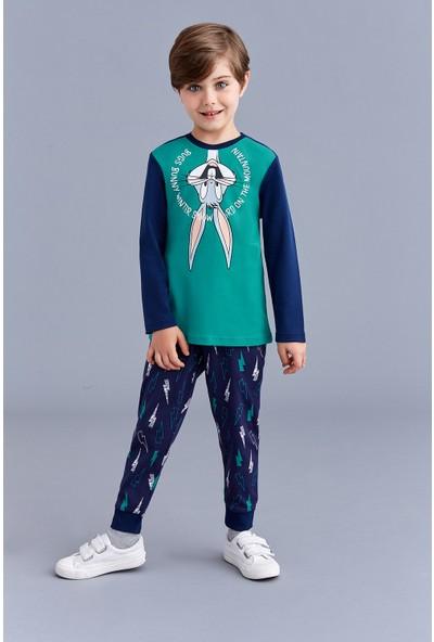 Bugs Bunny Lisanslı Erkek Çocuk Pijama Takımı Yeşil