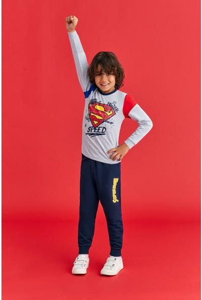 Superman Lisanslı Erkek Çocuk Eşofman Takım Gri