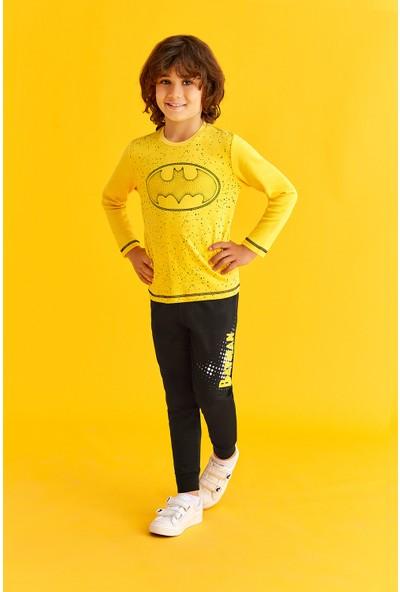Batman Lisanslı Erkek Çocuk Eşofman Takımı Sarı