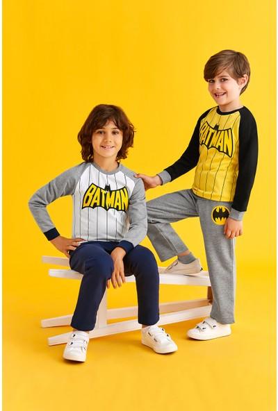 Batman Lisanslı Genç Erkek Eşofman Takım Sarı