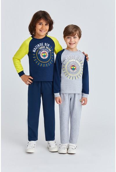 Fenerbahçe Lisanslı Erkek Çocuk Eşofman Takımı Grimelanj
