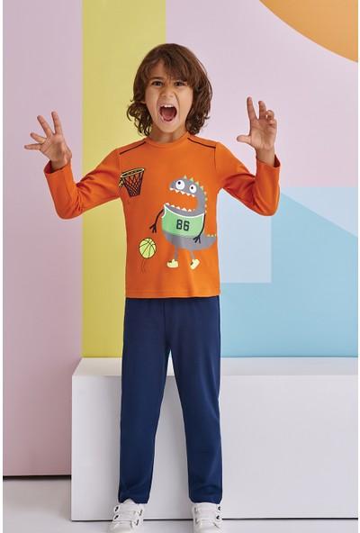 Roly Poly Monster Baskett Erkek Çocuk Pijama Takımı Tarçın