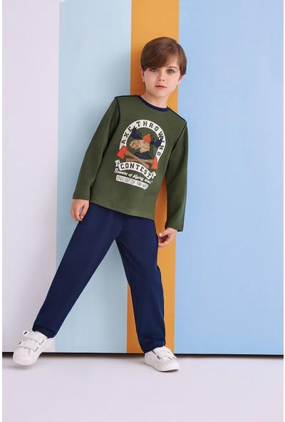 Roly Poly Axe Throwing Genç Erkek Pijama Takımı Çağla Yeşili