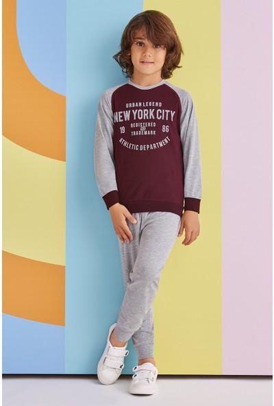 Roly Poly Newyork City Erkek Çocuk Eşofman Takımı Mürdüm