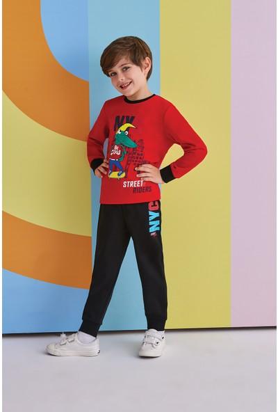 Roly Poly NYC Street Riders Erkek Çocuk Pijama Takımı Kırmızı