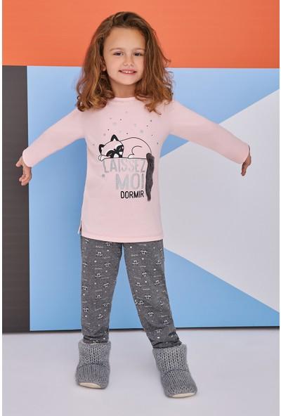 Roly Poly Sleeping Raccoon Genç Kız Pijama Takımı Somon
