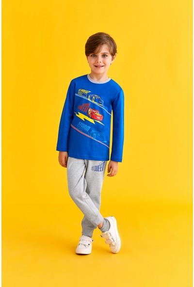 Cars Lisanslı Erkek Çocuk Pijama Takımı Saks