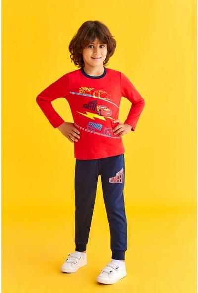 Cars Lisanslı Erkek Çocuk Pijama Takımı Açık Kırmızı