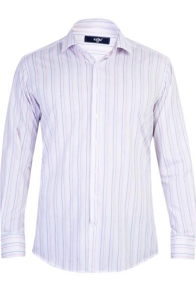 Kiğılı Uzun Kol Çizgili Klasik Gömlek