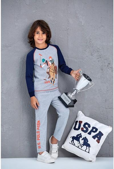 U.S. Polo Assn. Genç Erkek Pijama Takımı Grimelanj