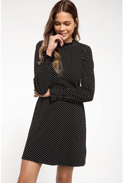 Defacto Kadın Puantiyeli Mini Elbise