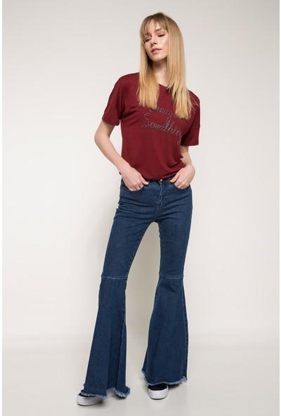 Defacto Kadın Flare Denim Pantolon
