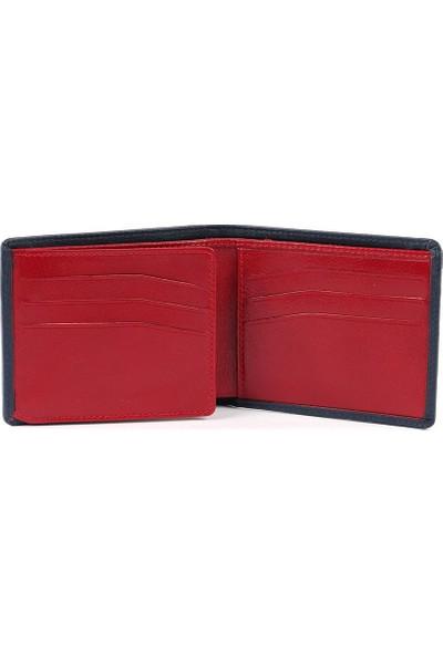 Cengiz Pakel Yatay Lacivert Kırmızı Erkek Cüzdan 27419