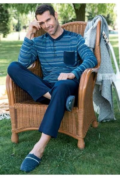 Yeni İnci EPJ674 Uzun Kollu Erkek Pijama Takımı