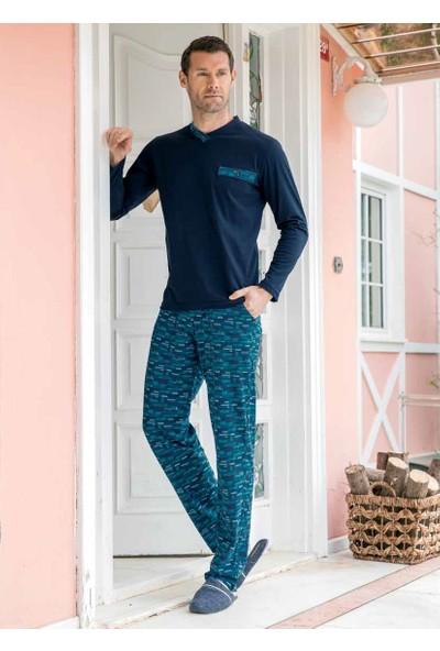 Yeni İnci EPJ676 Uzun Kollu Erkek Pijama Takımı