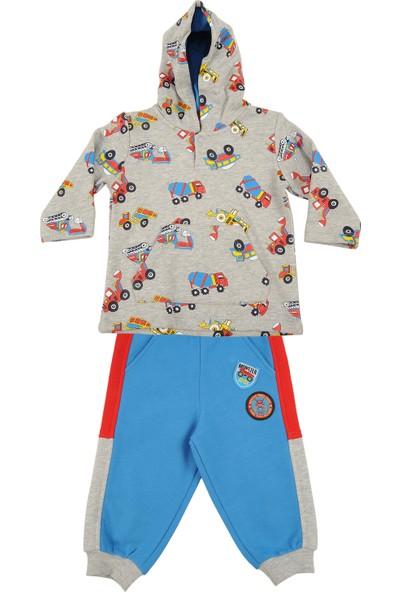 Zeyland Küçük Erkek Çocuk Kapişonlu Sweatshirt Tek Alt Takım