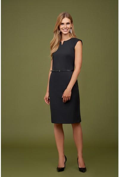 Naramaxx Kemerli Klasik Elbise
