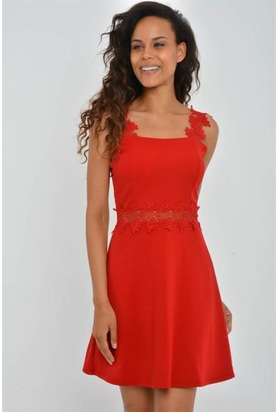Espenica 3849 Bianc Dalgıç Krep Elbise