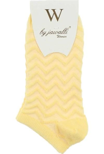 Modakids By Jawalli Kadın Sarı Desenli Parfümlü Patik Çorap 065-491-001
