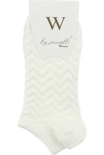 Modakids Bayan Jawali Kadın Beyaz Desenli Parfümlü Patik Çorap065-491-027
