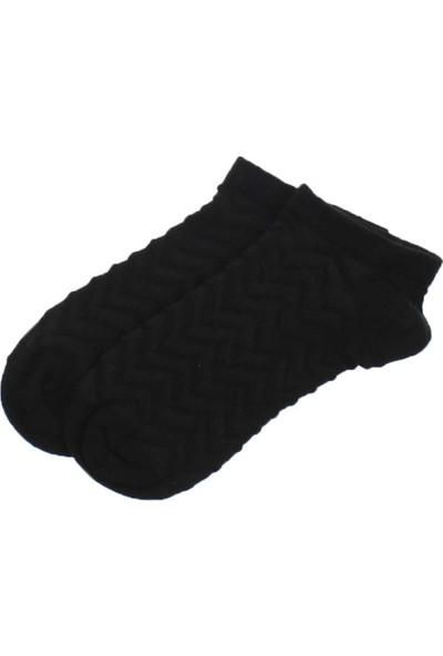 Modakids By Jawali Kadın Siyah Desenli Parfümlü Patik Çorap 065-491-038