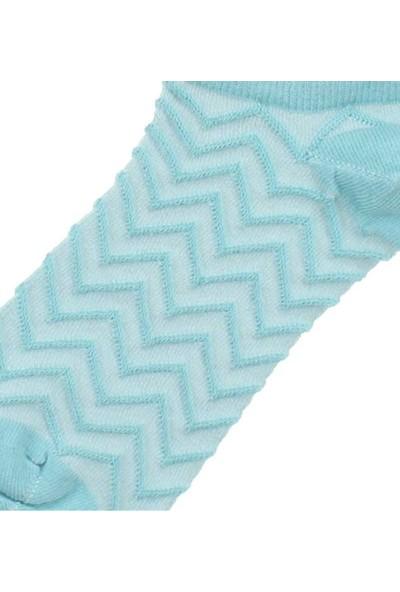 Modakids By Jawali Kadın Su Yeşili Desenli Parfümlü Patik Çorap 065-491-040