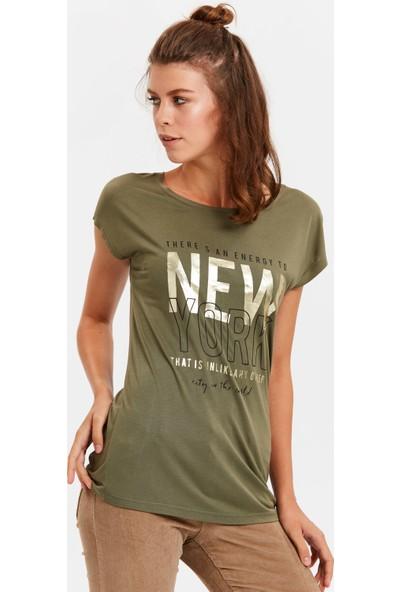 Lc Waikiki Kadın V Yaka Tshirt