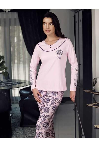 Şahinler Kadın Pijama Takımı Pembe Mbp23709-1