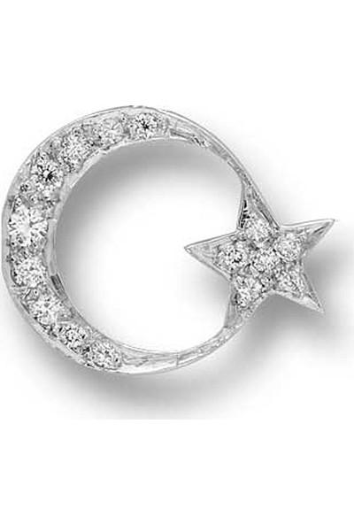 Ariş Pırlanta Pırlantalı Ay Yıldız Rozet