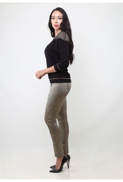 Dodona 1308 İtalyan Kumaş Gold Kadın Pantolon