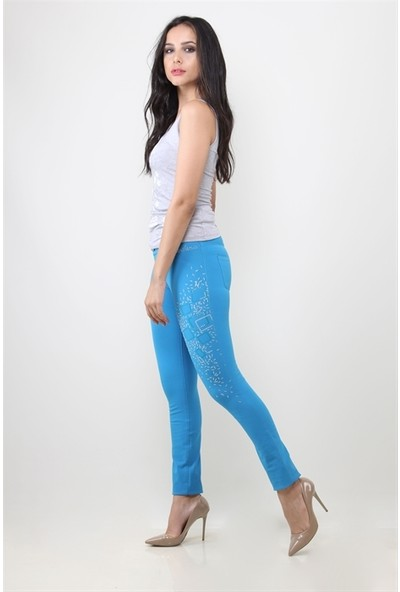 Dodona 7522 Mavi Kadın Pantolon