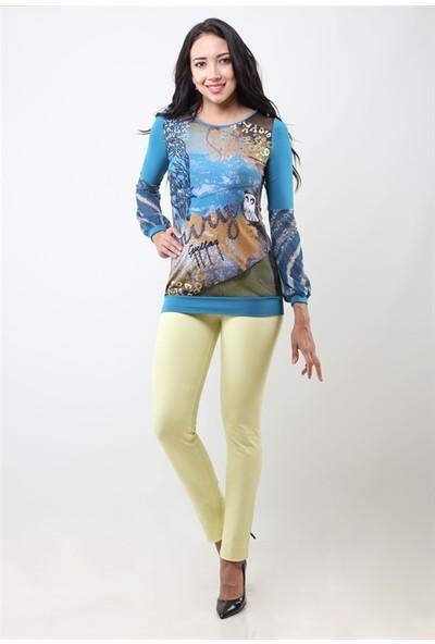 Dodona 4014 Sarı Kadın Pantolon