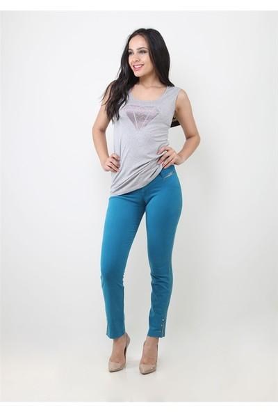 Dodona 8027 Tasarım Aqua Renk Kadın Pantolon