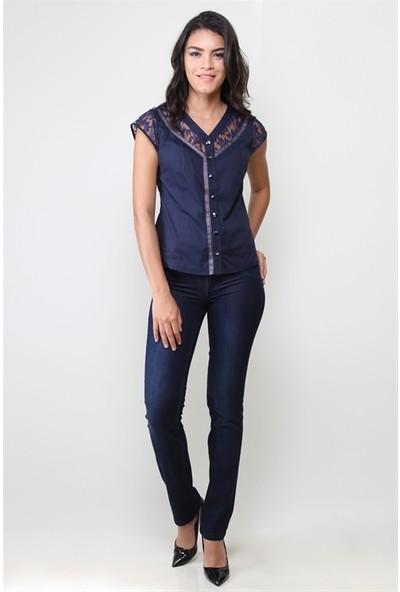 Dodona 3332 Özel Tasarım Navy Kadın Pantolon
