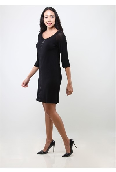 Dodona 3217 Siyah Elbise