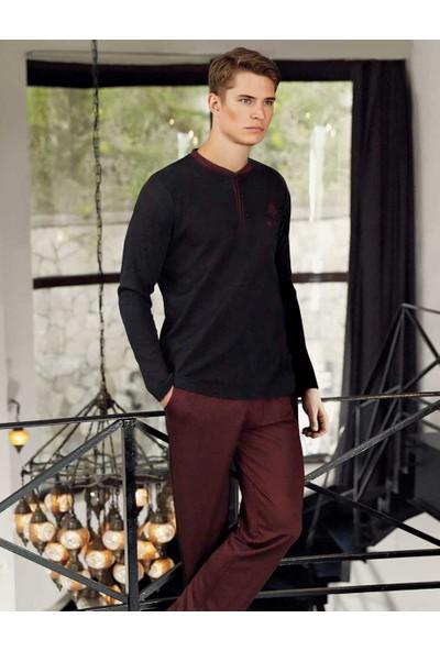 Şahinler Yakası Düğmeli Erkek Pijama Takımı MEP24505-1