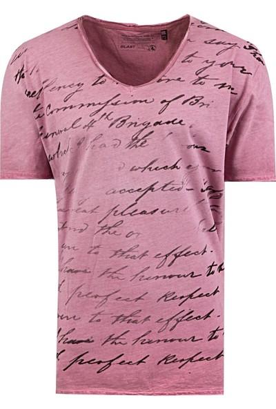 Blast Erkek T-Shirt Pembe Renk