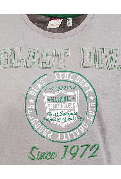 Blast Erkek T-Shirt Gri Renk