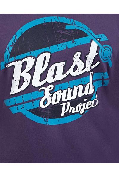 Blast Erkek T-Shirt Mor Renk