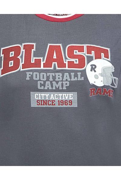 Blast Erkek T-Shirt Antrasit Renk